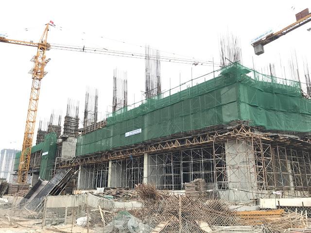 Tiến độ xây dựng CT2A Gelexia Riverside