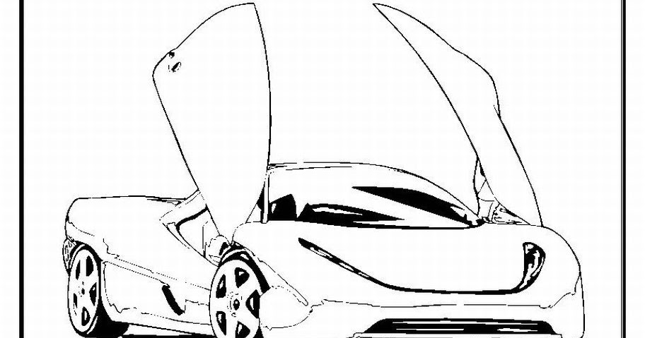 Interactive Magazine: Beautiful Sport Car Coloring Pages