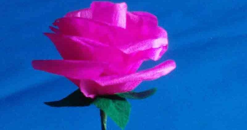 3 Langkah Mudah Membuat Bunga Mawar dari Kertas Krep