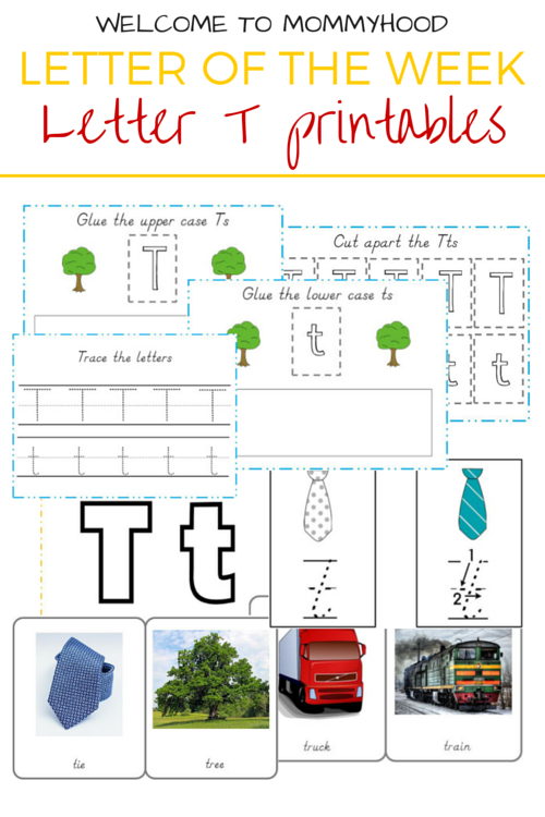 Tot Labs presents Letter of the Week: FREE Letter T printables by Welcome to Mommyhood, #preschoolactivities, #montessoriactivities, #montessori, #handsonlearning, #letteroftheweek, #lotw, #freeprintables