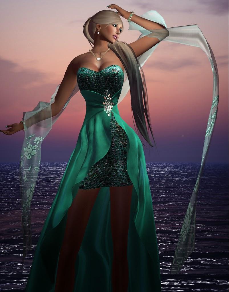 Jade Vixen: Becky Kénaan's Blog: UniQue's Jade Vixen Gown: Splitting