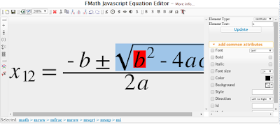 Free Editor for Mathematics ONLY Html5 and Javascript