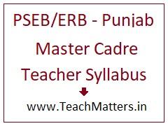 image : Punjab Master Cadre Teacher Syllabus 2021 @ TeachMatters