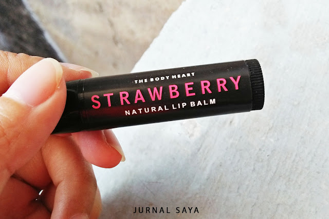 strawberry natural lip balm