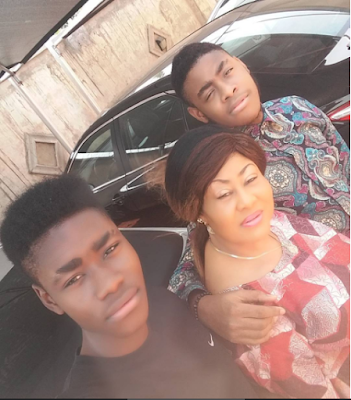 LIKE MOTHER LIKE CHILDREN!! TOP NOLLYWOOD ACTRESS NGOZI EZEONU SHOWS OFF PICTURES OF HER SONS – (PHOTOS)
