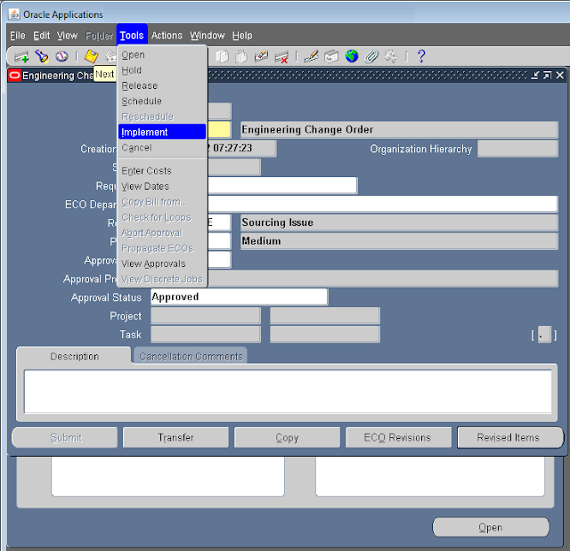 ECO Cycle (Engineering Change Order) in Oracle Apps ...