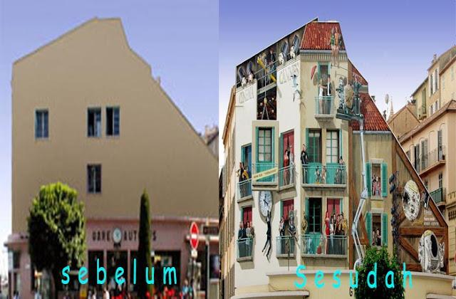 gambar lukisan 3d pada bangunan paling keren dan paling menakjubkan di dunia-1