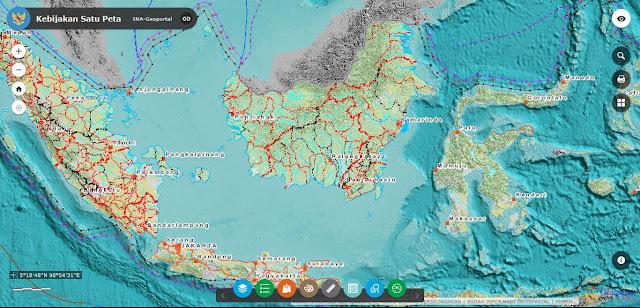 Download Peta Rupabumi pada Ina Geoportal