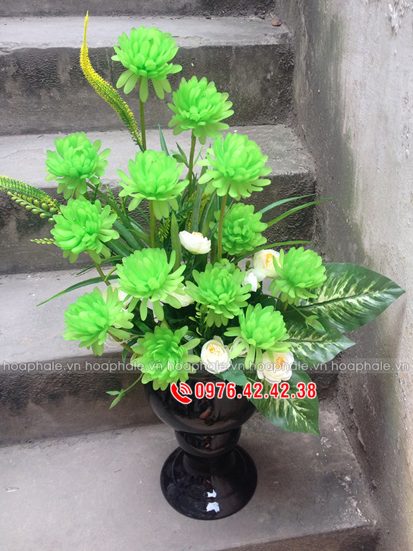Hoa cúc xanh - hoa pha lê