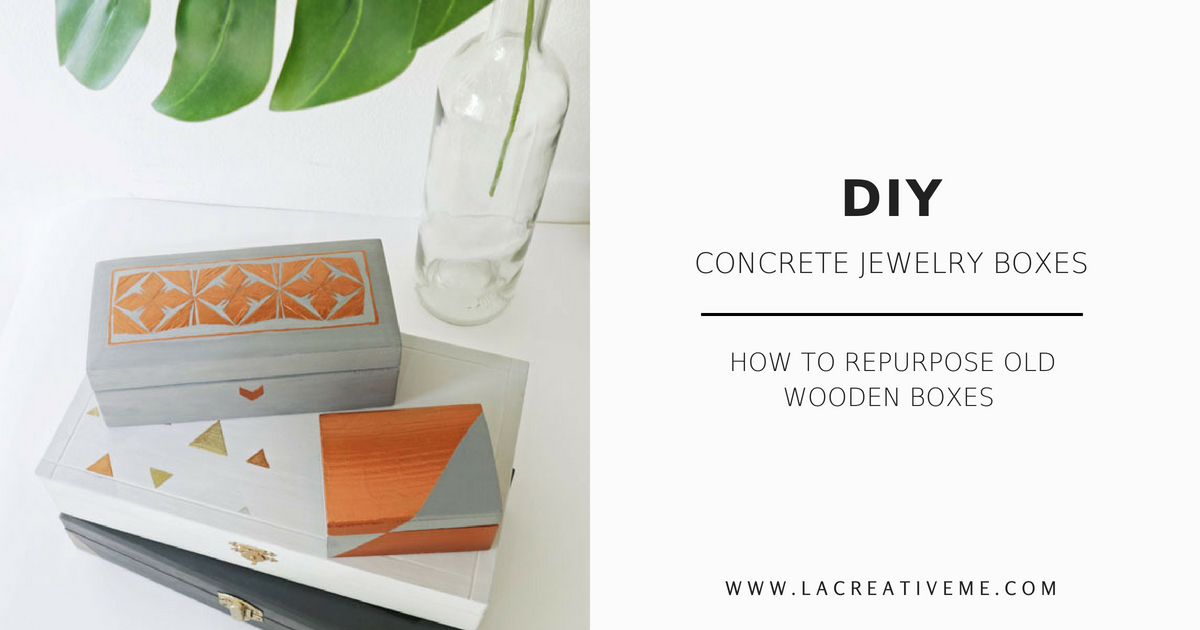 DIY Concrete Jewelry Boxes