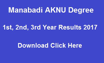aknu results 2017 manabadi