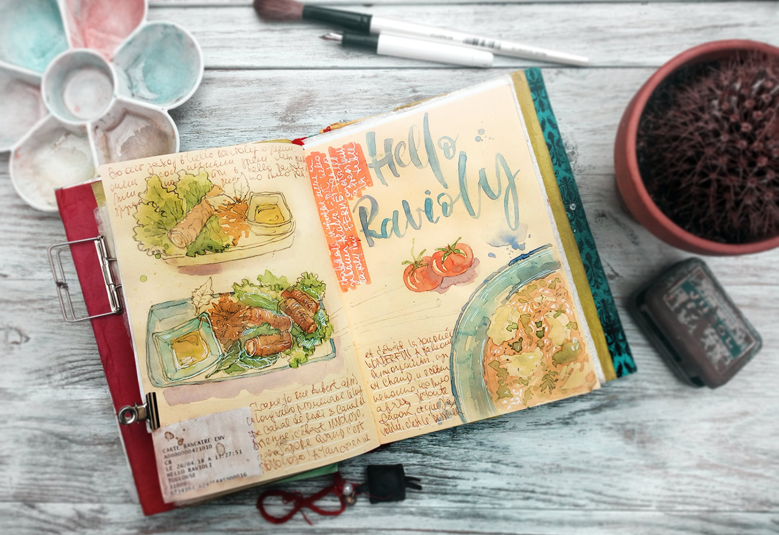 Food Illustration Watercolor