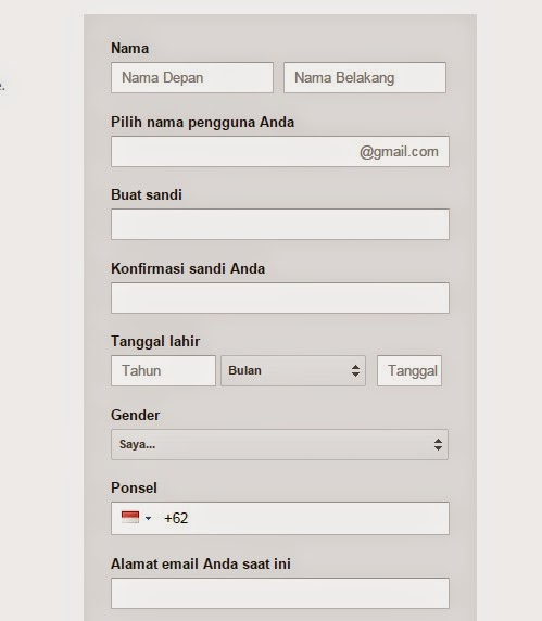 cara buat email baru