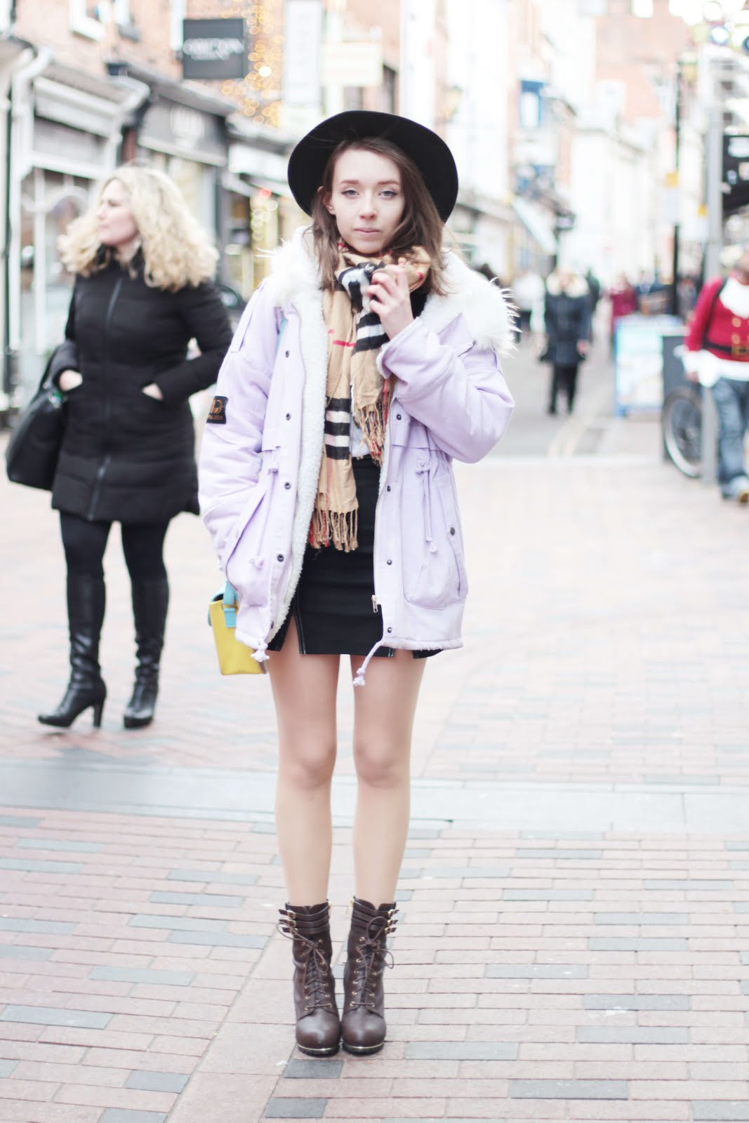 how to style parka coat winter girly cute