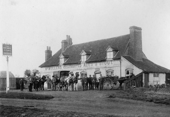 Photograph of The Sibthorpe Arms 1900s. Image R Papworth/ G Knott