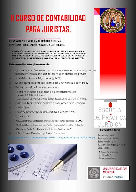 II CURSO CONTABILIDAD PARA JURISTAS.