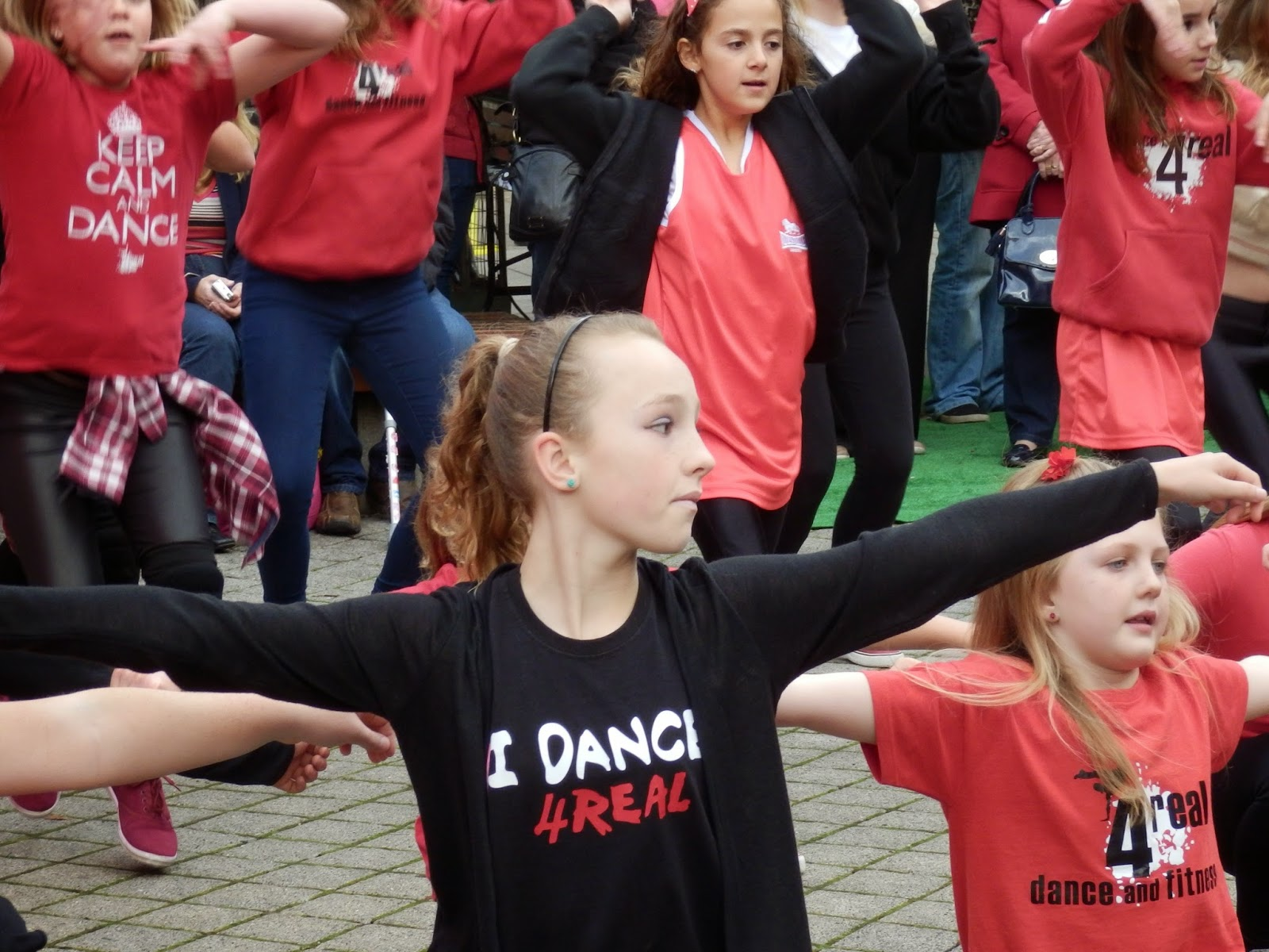 Children dancing in St.Austell square