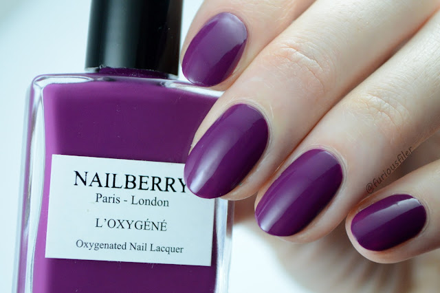 nailberry extravagant swatch purple furious filer