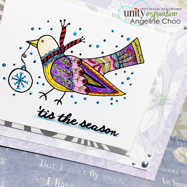 ScrappyScrappy: Folksy Partridge with Unity Stamp #scrappyscrappy #unitystampco #christmas #partridge #card #cardmaking #papercraft #coloring #stamp #stamping #holiday