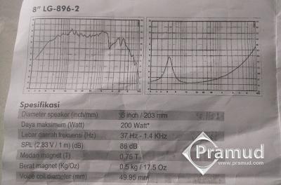 spesifikasi lengkap speaker subwoofer 8 inchi legacy LG-896-2 - pramud blog