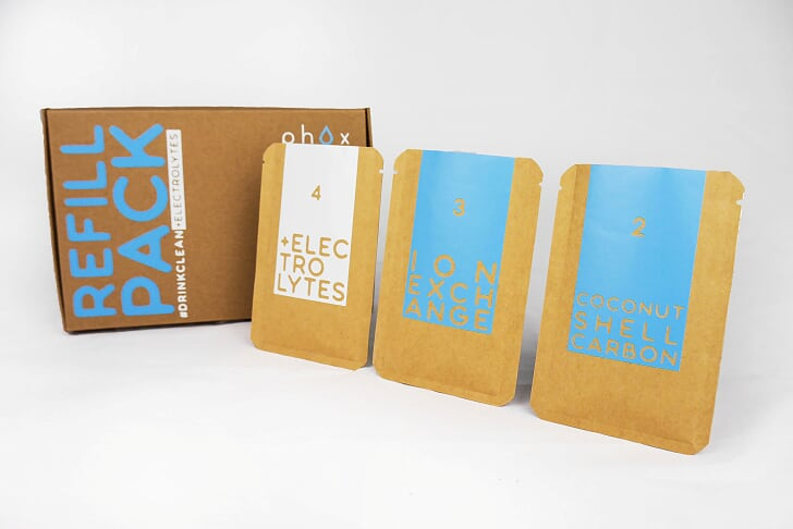Phox v2 Sustainable Water Filter refill packs