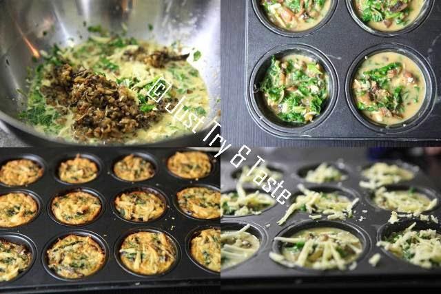 Resep Mini Quiche Bayam & Jamur