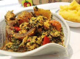 Egusi soup with eba
