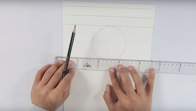 dibujo, esfera, lapiz