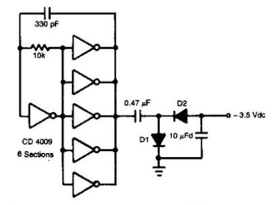 auxiliary negative dc supply circuit diagram
