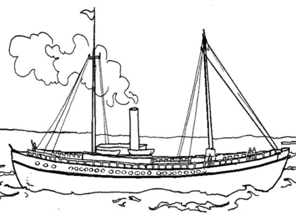 Gambar Mewarnai Perahu Layar Gambar Mewarnai