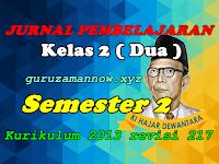 Jurnal Pembelajaran Tematik SD/MI Kelas 2 Semester 2 Kurikulum 2013 Revisi 2017
