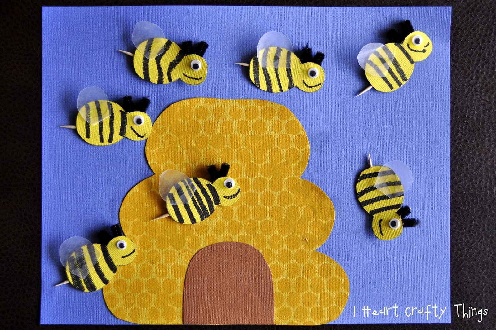 Busy Bees Craft I Heart Crafty Things