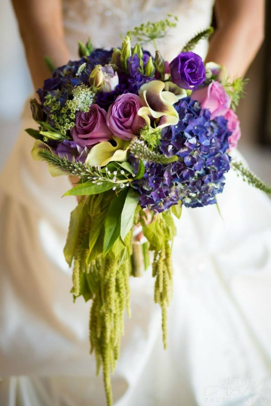 Свадебный букет лавандового цвета
