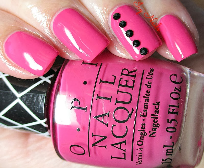 OPI and Gwen Stefani Hey Baby Swatch and Nail Art notesfrommydressingtable.com