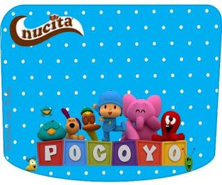 Etiqueta Nucita de Dulce Pocoyó para imprimir gratis.