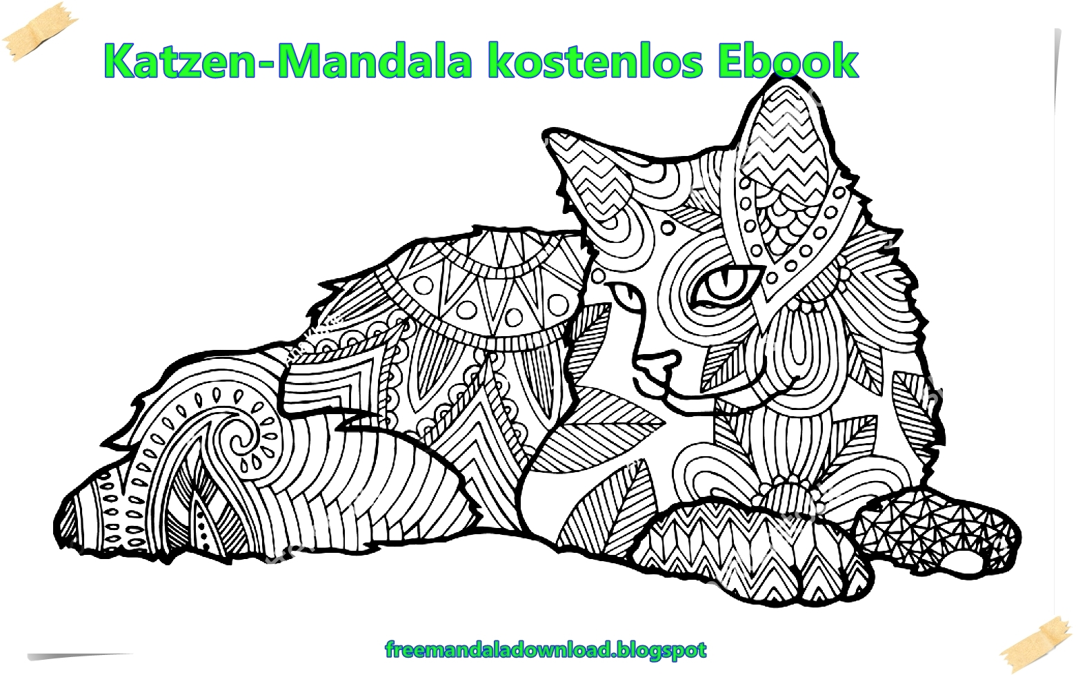 katzen mandala kostenlos ebook cats mandala free ebook free mandala. Black Bedroom Furniture Sets. Home Design Ideas