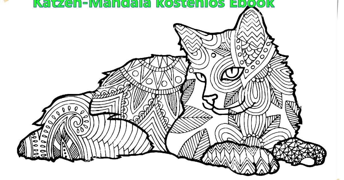 Free Mandala : Katzen-Mandala kostenlos Ebook-Cats mandala free ebook