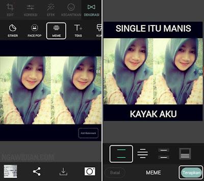 Edit Foto Meme Dengan Cymera Android