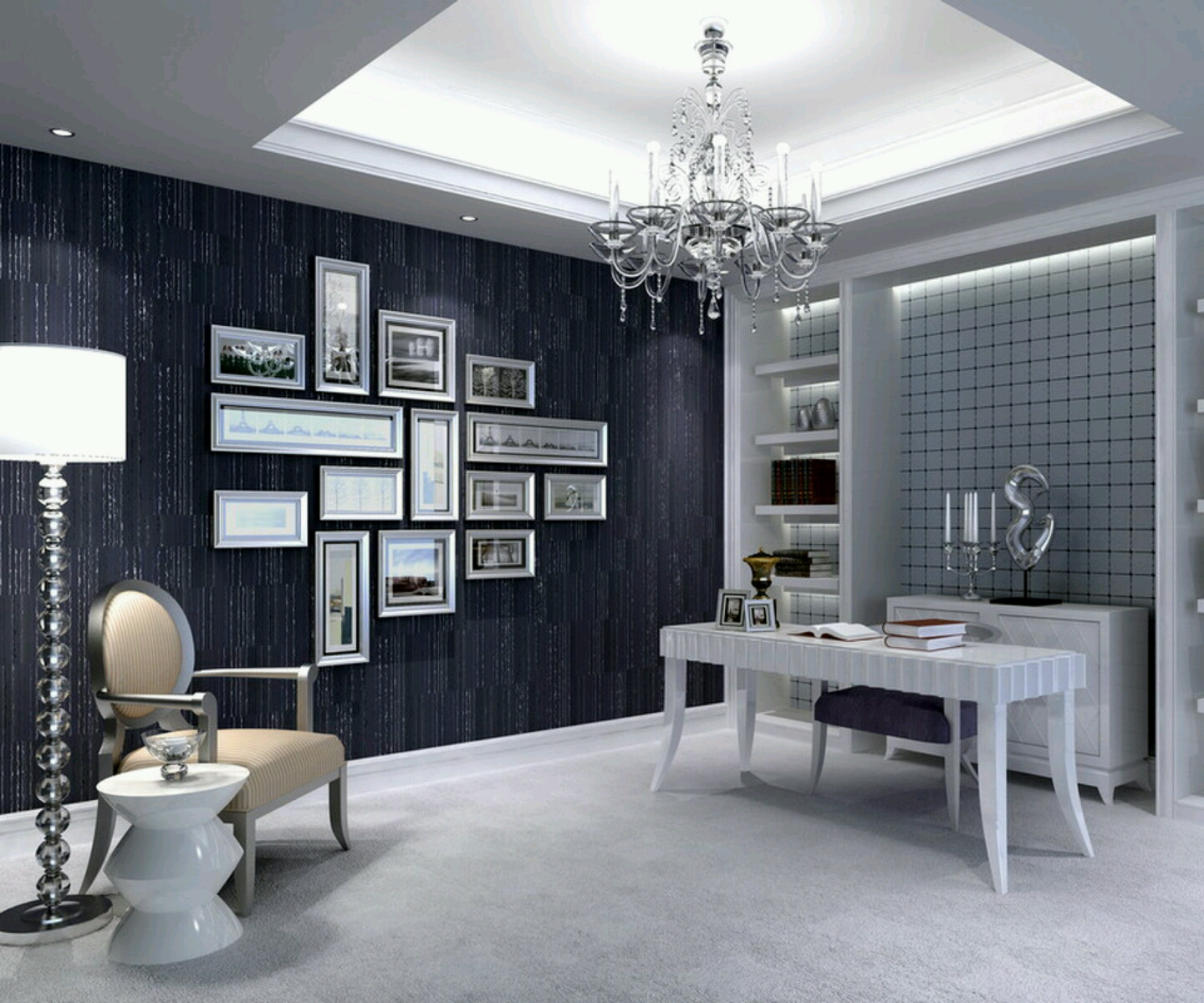 New home designs latest.: Modern homes studyrooms interior ...