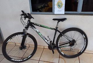 PM de Roncador recupera bicicleta furtada