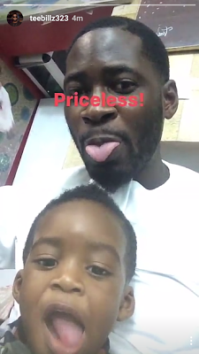 Adorable Photos Of Teebillz and his son, Jamil, goof around on IG