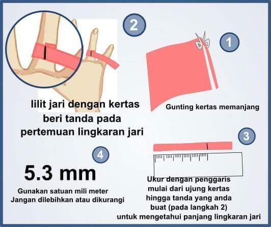 Cara mudah untuk mengukur cincin