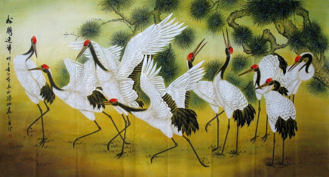 Ý nghĩa sâu sắc của hình tượng chim hạc trong hội họa truyền thống, in hồng hạc