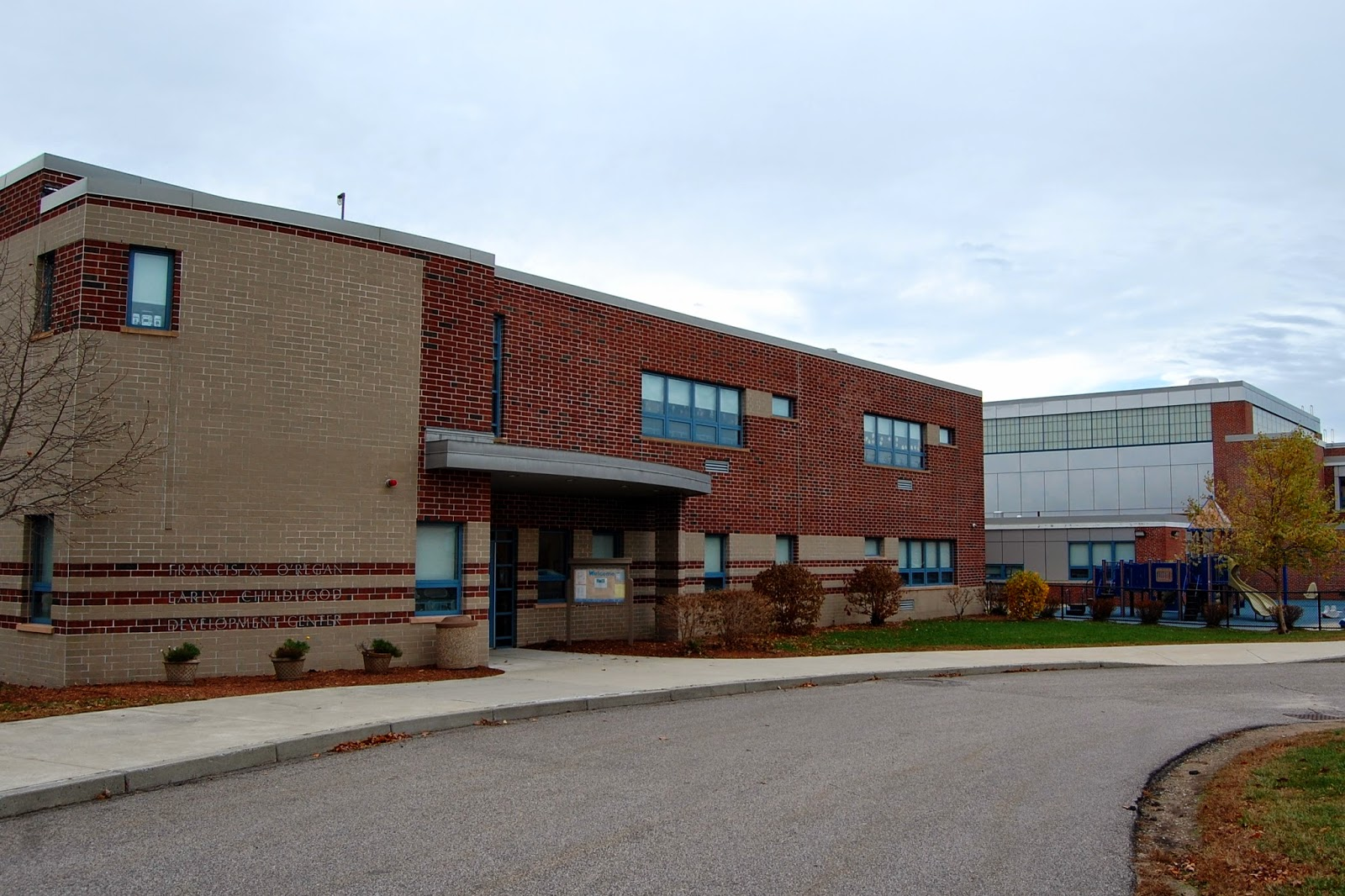 the ECDC is located on Oak St behind the Oak St and Horace Mann schools