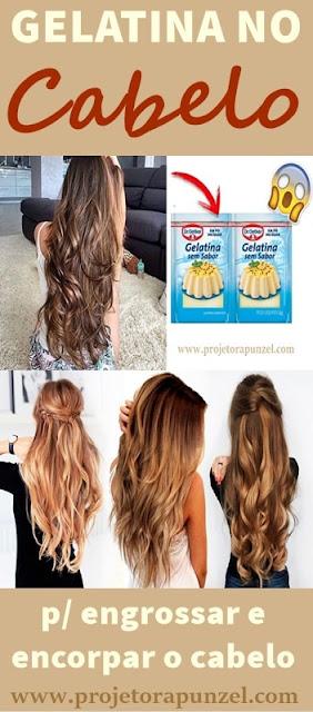 gelatina no cabelo para engrossar e encorpar os fios