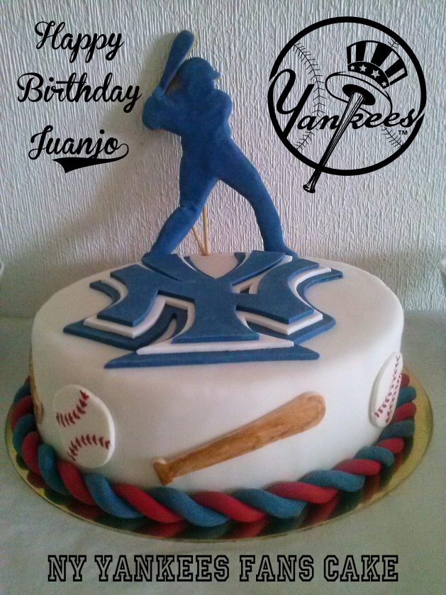 Pin Yankees Birthday Cake Features An Array Of Yankee On