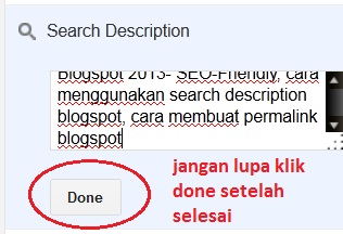 tips optimasi search description blogspot