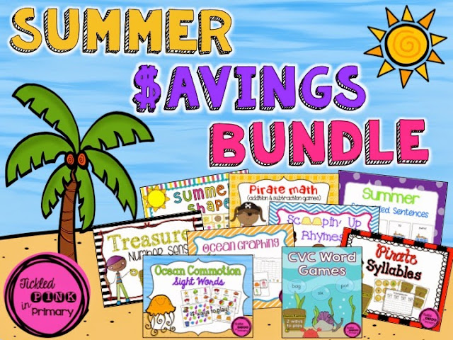 Summer Literacy and Math Centers - Summer Saving Bundle