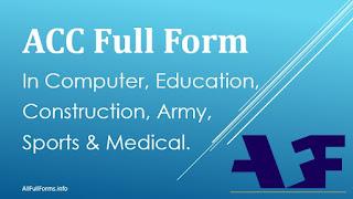 ACC Full Form