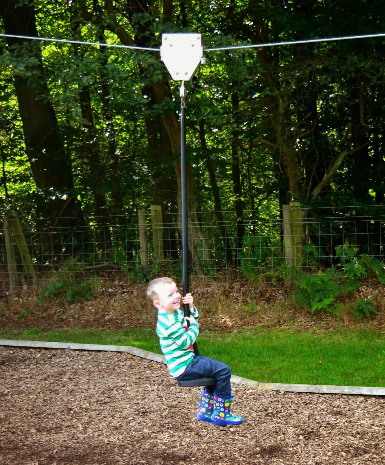 Westwood Yurts | Glamping at National Trust Gibside, County Durham - A Review - Strawberry Castle Play Area / Park - zip wire